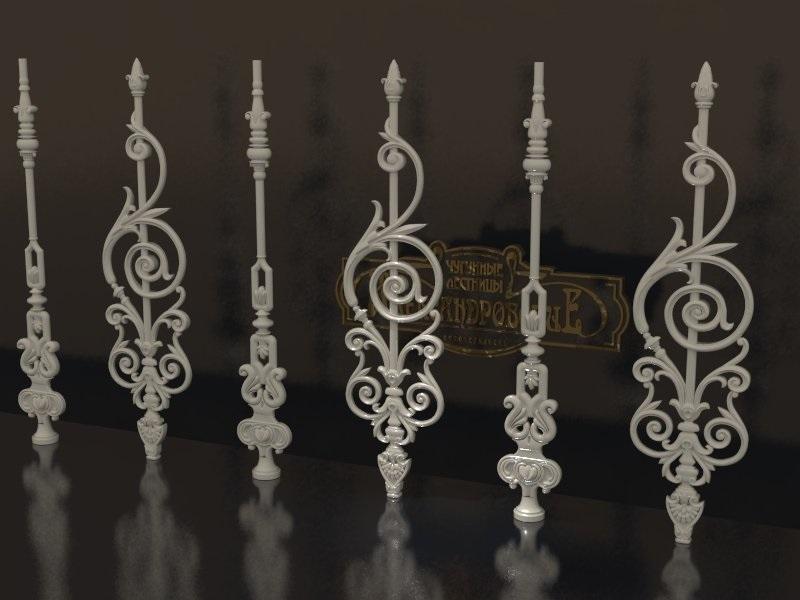 Кованые элементы для лестниц: балясины, стойки, поручни